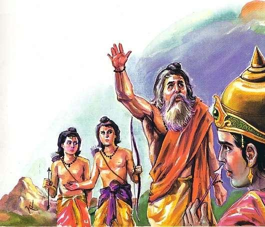 Scene -6 Valmiki with Rama & Twins