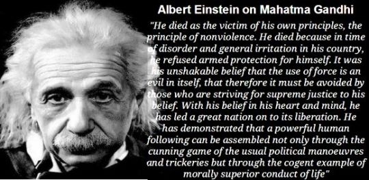 Einstein on Gandhi