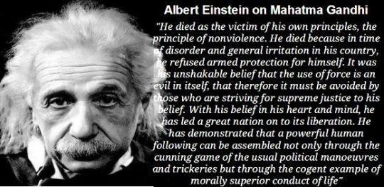 Einstein on Gandhi