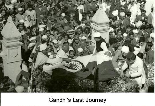 Gandhi's last journey
