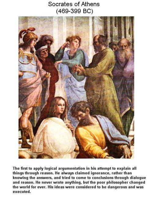Fig 3 Socrates Influencing the Youths