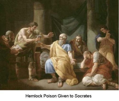 Fig 4 Death of Socrates with Poison