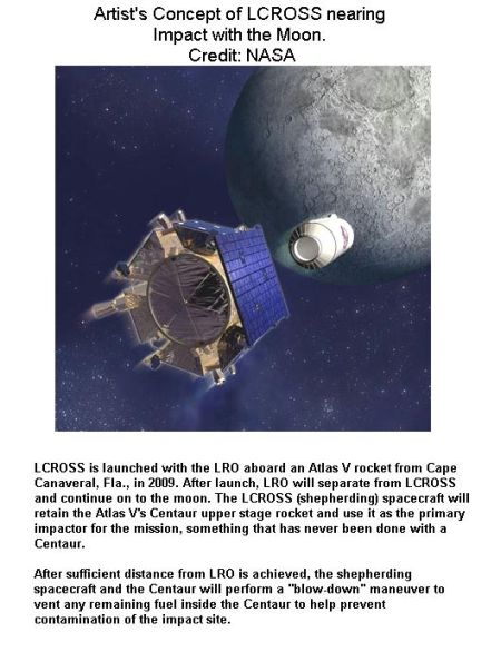 Fig 2 LCROSS to Impact on Moon