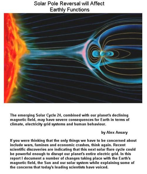 Fig 3 Solar Pole Reversal Affects Earth Functions