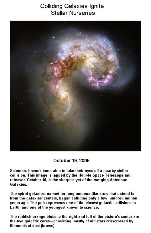 Fig 4 Galaxies Collision