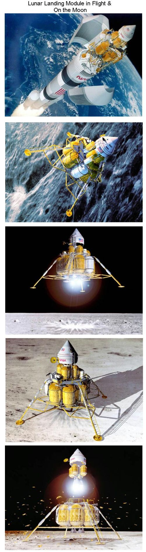 Fig 8 Lunar Lander in Flight & On the Moon