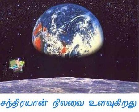 Fig 1 Chandrayaan Surveys the Moon