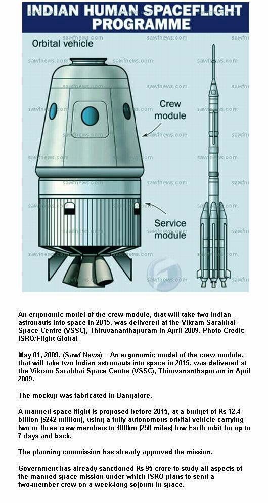 Fig 6 India's Future Manned Flight