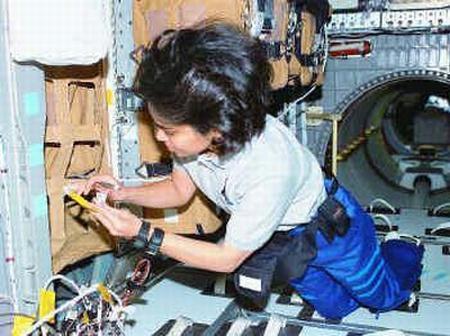 Fig 10 Kalpana in Spacehab