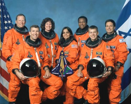 Fig 2 Kalpana Chawla Group Astronauts