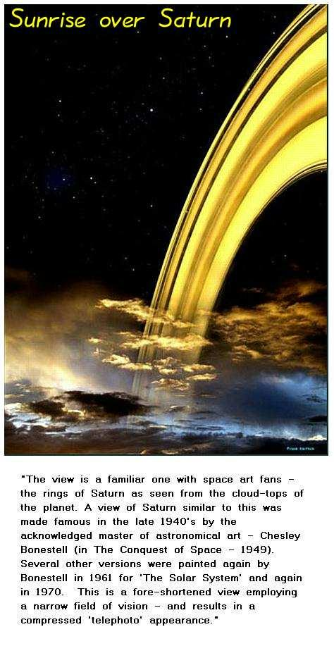 Fig 6 Sunrise over Saturn Planet