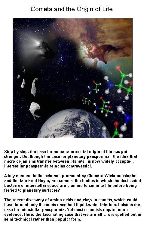 Fig 12 Comets & Origins of Life