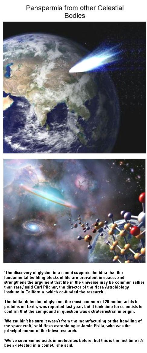 Fig 7 Panspermia from other Celestial Bodies