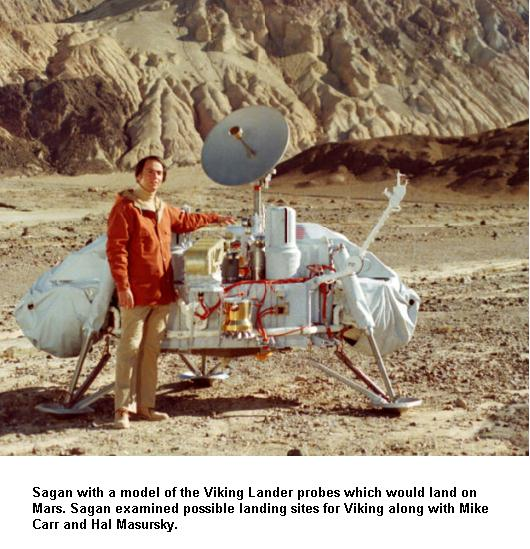 Fig 10 Sagan with Viking Lander Model