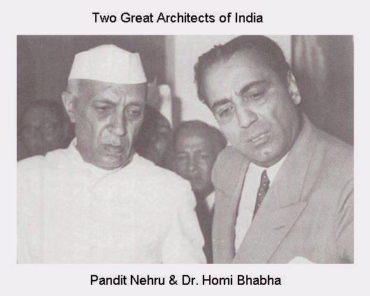 Nehru & Homi Bhabha