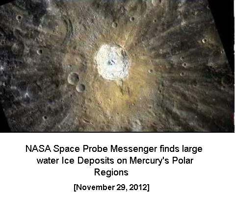 Water ice Discovery by NASA Probe