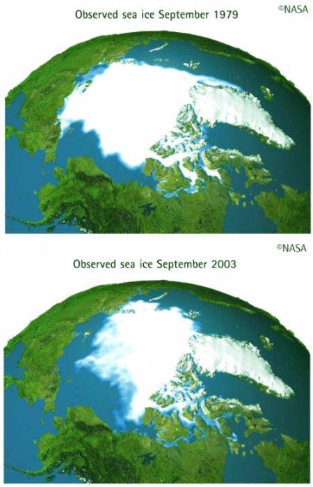 Fig 1 Arctic Ice Melting