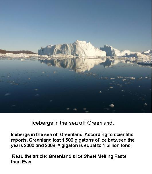 Icebergs in the Sea