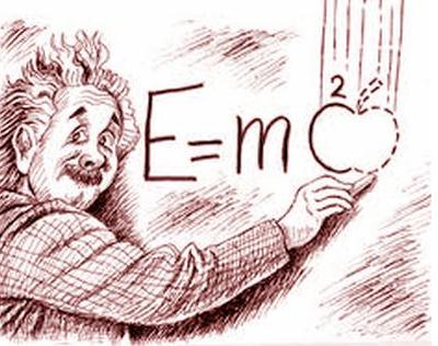 Einstein Apple falling