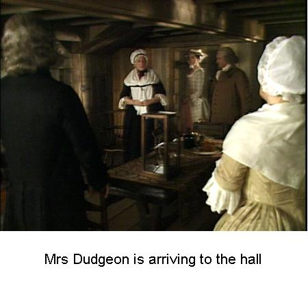Fig 3 Mrs Dudgeon is arriving