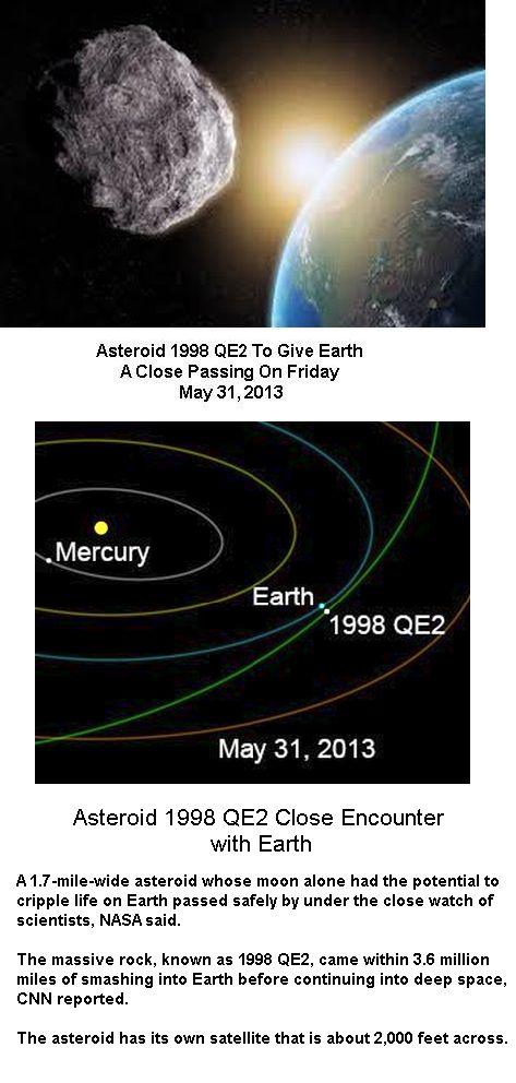 Asteroid close encounter