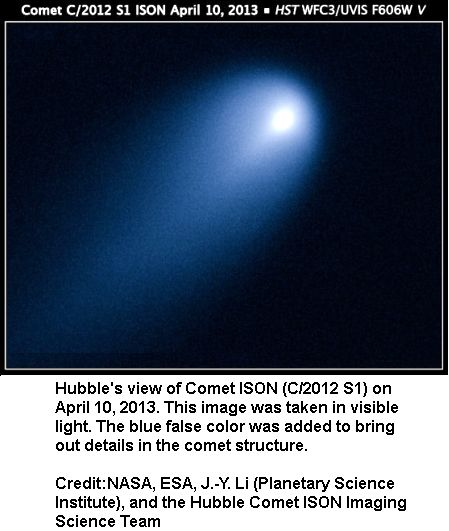 Comet ISON APPROACHING THE sUN