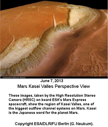 Kasei Valles of Mars