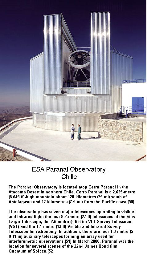Paranal Observatory chille