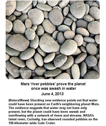 Pebbles in Mars