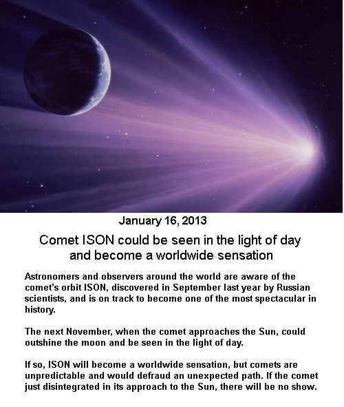 Spectacular Comet ISON