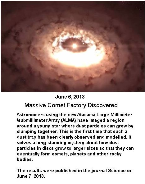 Comet factory discovered -1