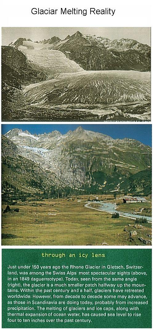 Glacier melting Scenery