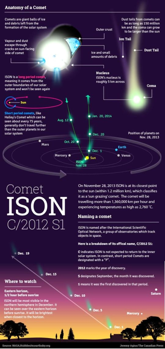 Anatomy of Comet Ison -1