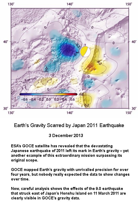 Gravity affeted by 2011 earthquake