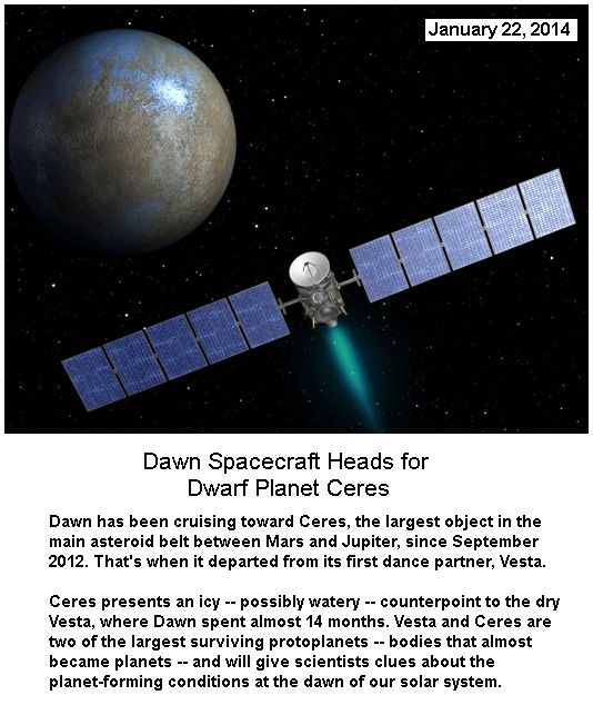Dawn approaches Ceres