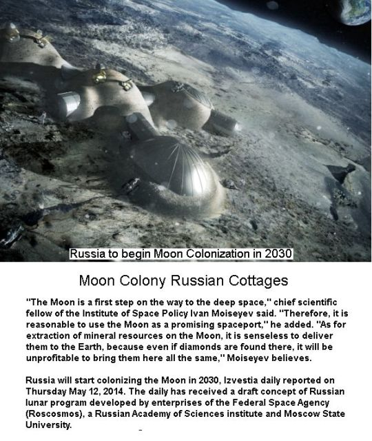 Moon Russian Colony