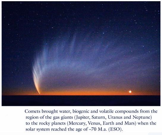 Comets Gifts for Earth