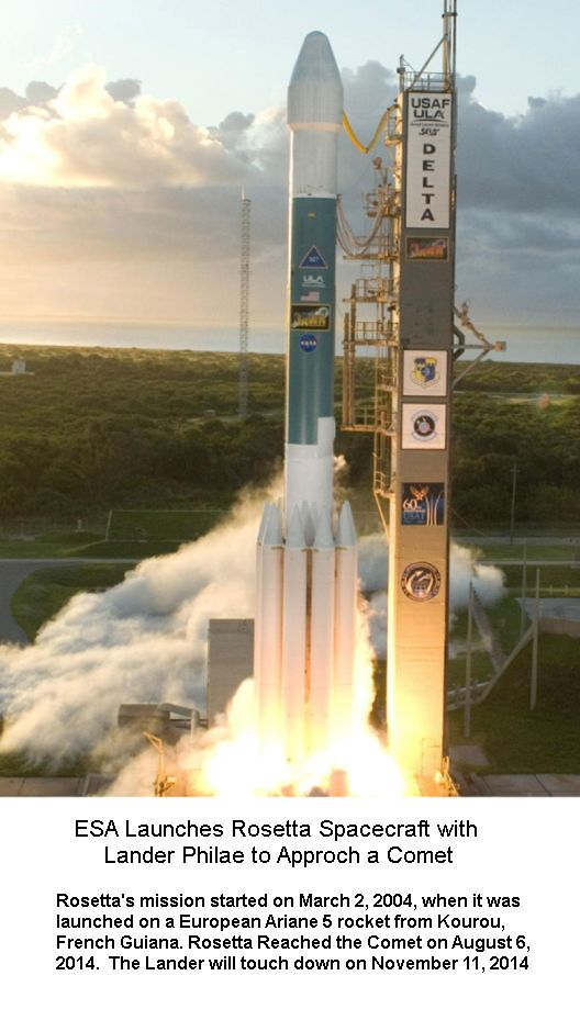 Rosetta launching