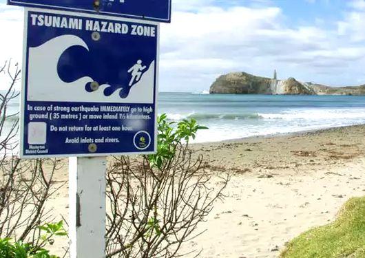 Tsunami zone