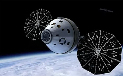 Origin Spaceship with Solar panels