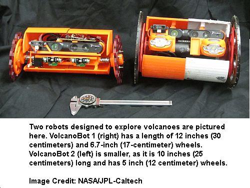Two Volcano Robots