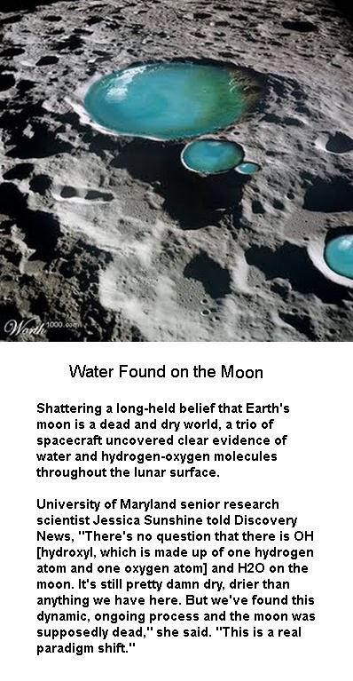 Water found on the Moon