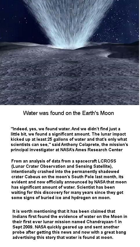 Water was found on the Moon