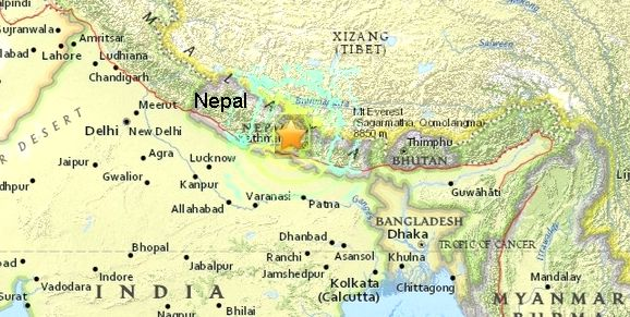 Location of Earthquake