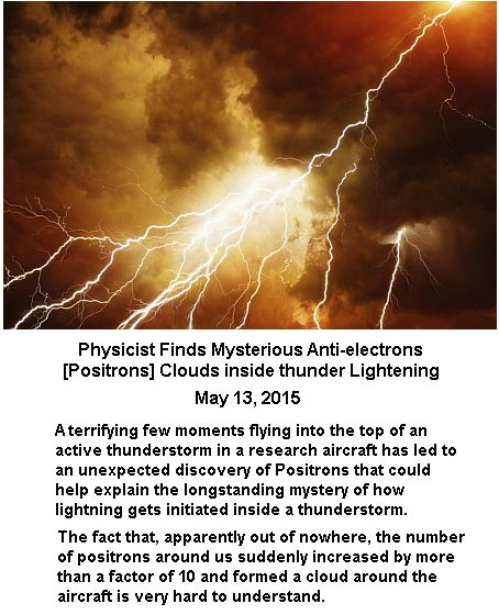 Posirons in thunder
