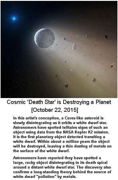 White dwarf destroying a planet