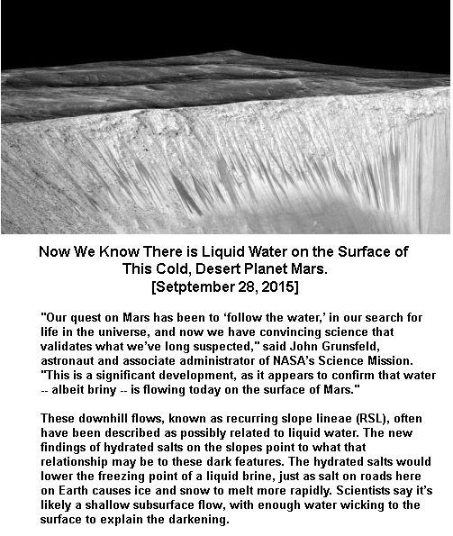 Mars brine water flow