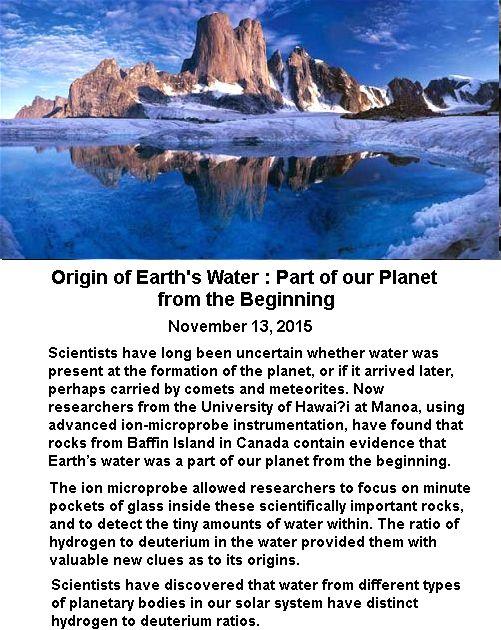 Earth's water -1