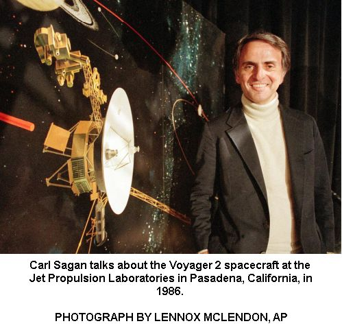 Carl Sagan with Voyager -2