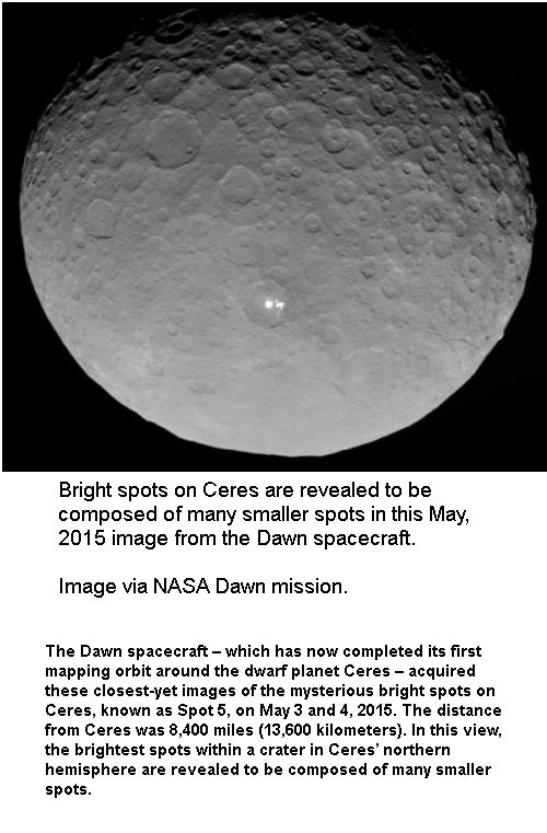 Dawn close to Ceres